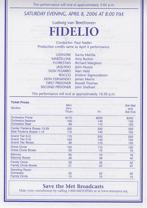 オペラ ベートーベン「フィデリオ」