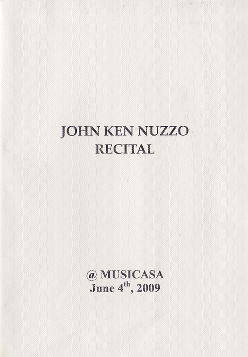 John Ken Nuzzo Recital 2009