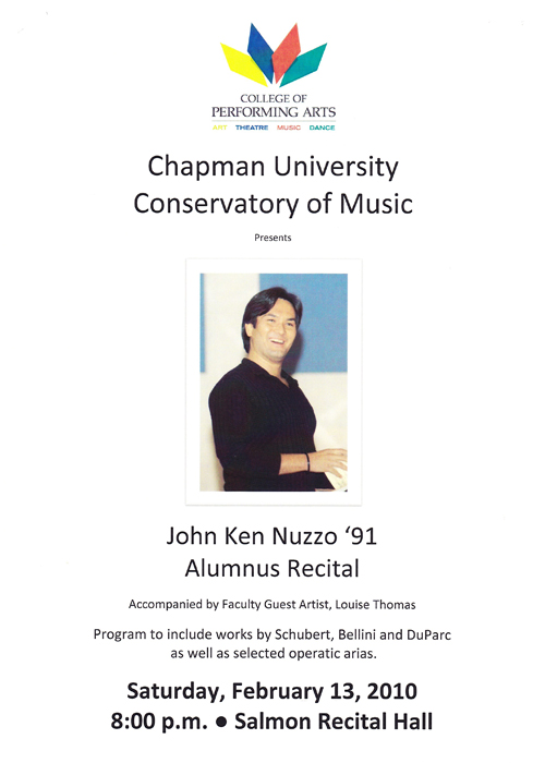 Alumnus Recital : John Nuzzo
